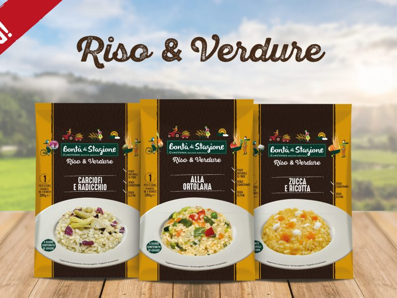 Dal 14 ottobre gustose novità: la linea Riso&Verdure